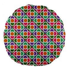 Modernist Floral Tiles Large 18  Premium Flano Round Cushions
