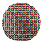 Modernist Floral Tiles Large 18  Premium Flano Round Cushions Front