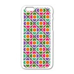 Modernist Floral Tiles Apple iPhone 6/6S White Enamel Case Front