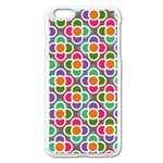 Modernist Floral Tiles Apple iPhone 6 Plus/6S Plus Enamel White Case Front