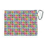 Modernist Floral Tiles Canvas Cosmetic Bag (XL) Back