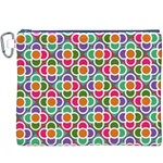 Modernist Floral Tiles Canvas Cosmetic Bag (XXXL) Front