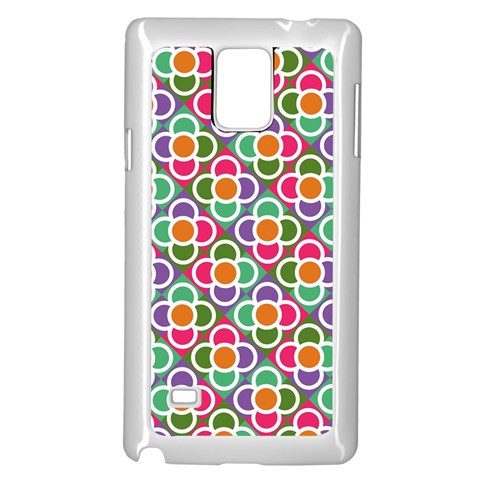 Modernist Floral Tiles Samsung Galaxy Note 4 Case (White)