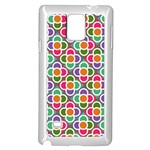 Modernist Floral Tiles Samsung Galaxy Note 4 Case (White) Front