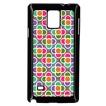 Modernist Floral Tiles Samsung Galaxy Note 4 Case (Black) Front
