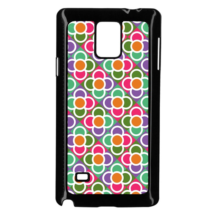 Modernist Floral Tiles Samsung Galaxy Note 4 Case (Black)