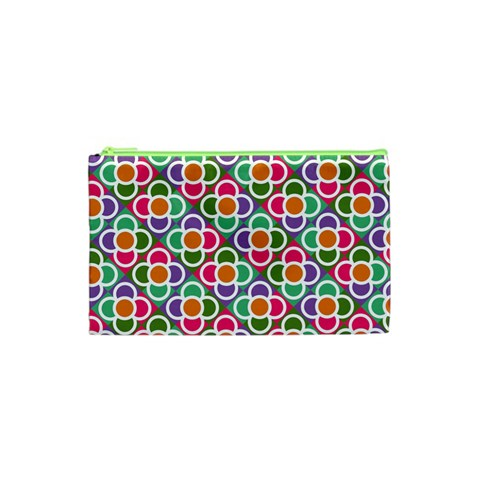 Modernist Floral Tiles Cosmetic Bag (XS)