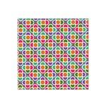 Modernist Floral Tiles Satin Bandana Scarf Front