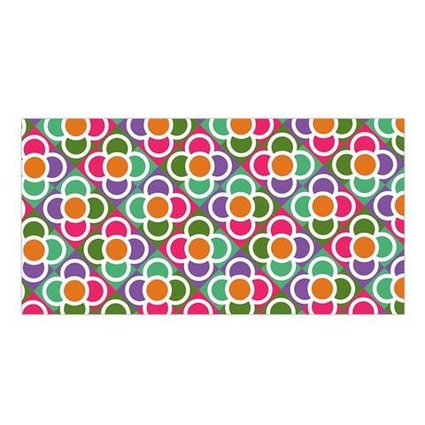Modernist Floral Tiles Satin Shawl