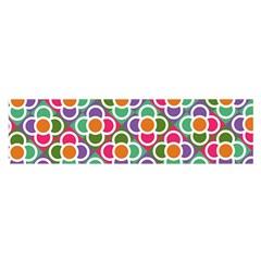 Modernist Floral Tiles Satin Scarf (oblong)