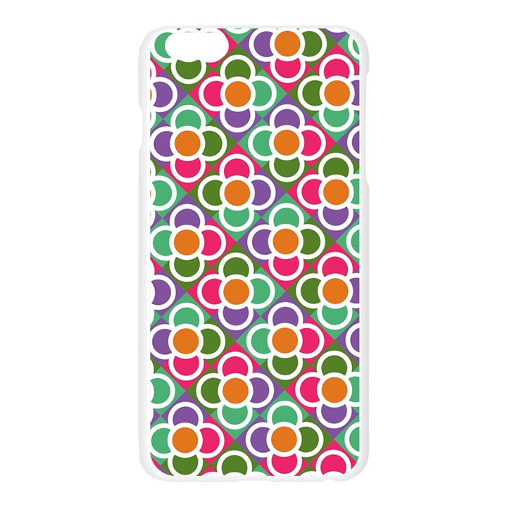 Modernist Floral Tiles Apple Seamless iPhone 6 Plus/6S Plus Case (Transparent)
