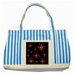 Alphabet Shirtjhjervbretili Striped Blue Tote Bag Front
