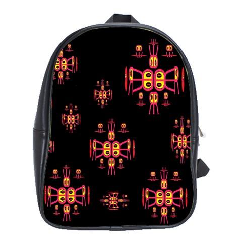 Alphabet Shirtjhjervbretili School Bags(Large)