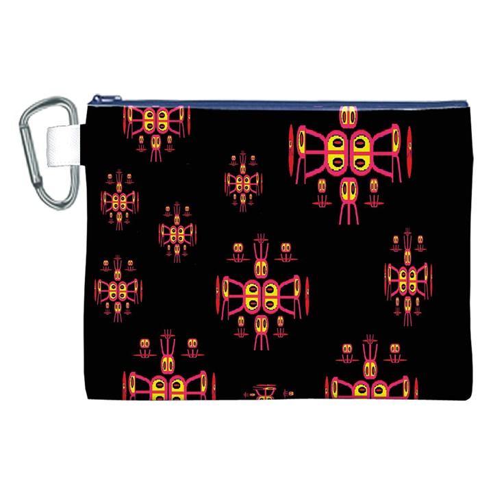 Alphabet Shirtjhjervbretili Canvas Cosmetic Bag (XXL)