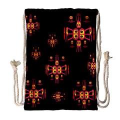 Alphabet Shirtjhjervbretili Drawstring Bag (Large)