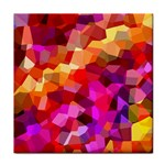 Geometric Fall Pattern Tile Coasters Front