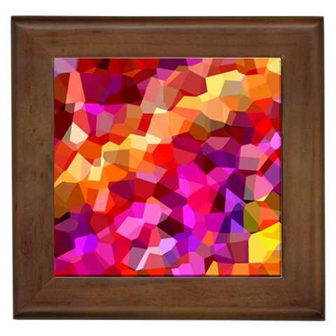 Geometric Fall Pattern Framed Tiles