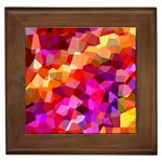 Geometric Fall Pattern Framed Tiles Front