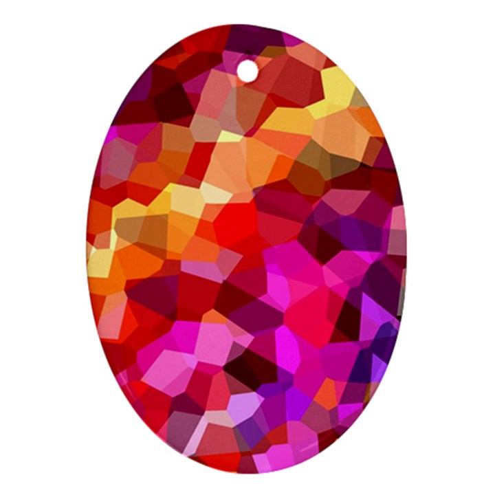 Geometric Fall Pattern Ornament (Oval)