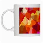 Geometric Fall Pattern White Mugs Left