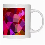 Geometric Fall Pattern White Mugs Right