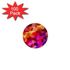 Geometric Fall Pattern 1  Mini Buttons (100 pack)