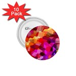 Geometric Fall Pattern 1.75  Buttons (10 pack) Front