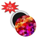 Geometric Fall Pattern 1.75  Magnets (10 pack)  Front