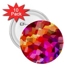 Geometric Fall Pattern 2.25  Buttons (10 pack)