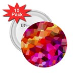Geometric Fall Pattern 2.25  Buttons (10 pack)  Front