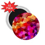 Geometric Fall Pattern 2.25  Magnets (10 pack)  Front