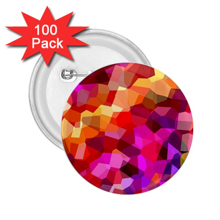 Geometric Fall Pattern 2.25  Buttons (100 pack)