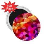 Geometric Fall Pattern 2.25  Magnets (100 pack)  Front