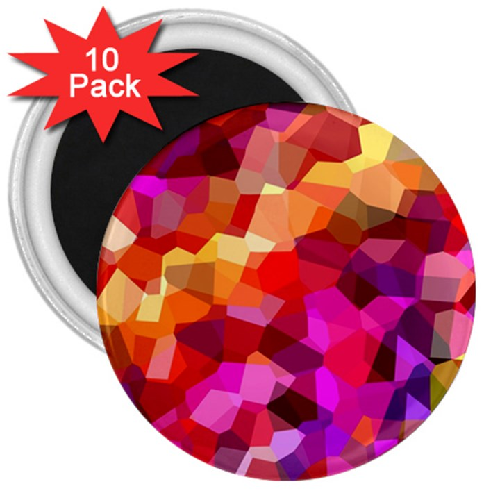 Geometric Fall Pattern 3  Magnets (10 pack)