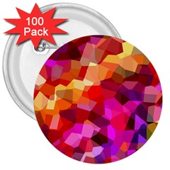 Geometric Fall Pattern 3  Buttons (100 pack)