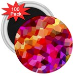 Geometric Fall Pattern 3  Magnets (100 pack) Front