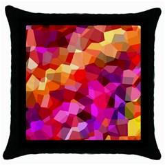 Geometric Fall Pattern Throw Pillow Case (black)