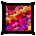 Geometric Fall Pattern Throw Pillow Case (Black) Front