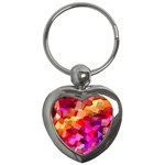 Geometric Fall Pattern Key Chains (Heart)  Front