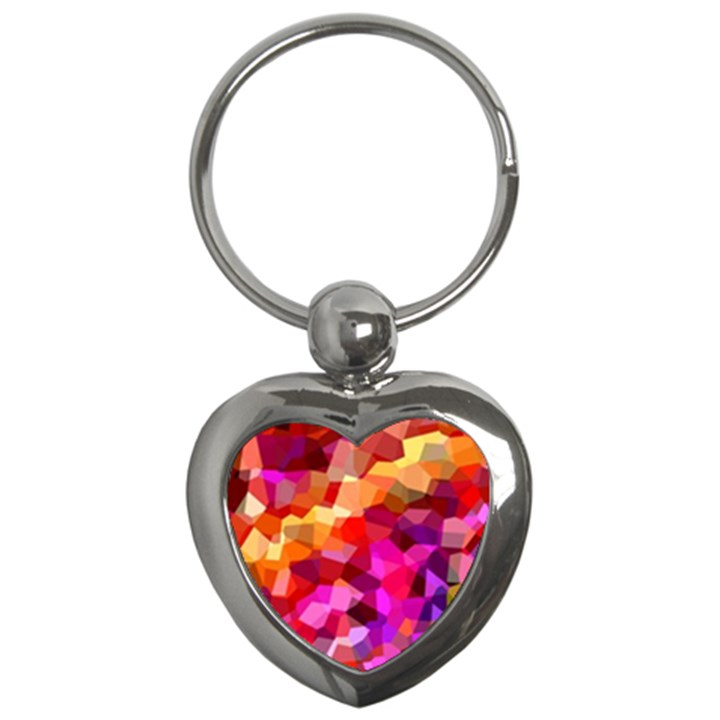 Geometric Fall Pattern Key Chains (Heart)
