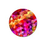 Geometric Fall Pattern Magnet 3  (Round) Front