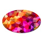 Geometric Fall Pattern Oval Magnet Front