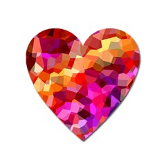 Geometric Fall Pattern Heart Magnet