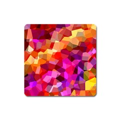 Geometric Fall Pattern Square Magnet