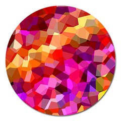Geometric Fall Pattern Magnet 5  (Round)