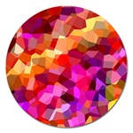 Geometric Fall Pattern Magnet 5  (Round) Front