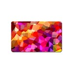 Geometric Fall Pattern Magnet (Name Card) Front