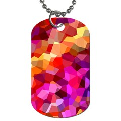Geometric Fall Pattern Dog Tag (one Side)