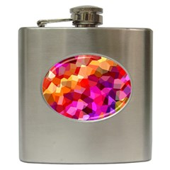 Geometric Fall Pattern Hip Flask (6 oz)