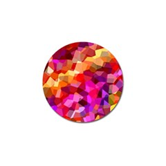 Geometric Fall Pattern Golf Ball Marker